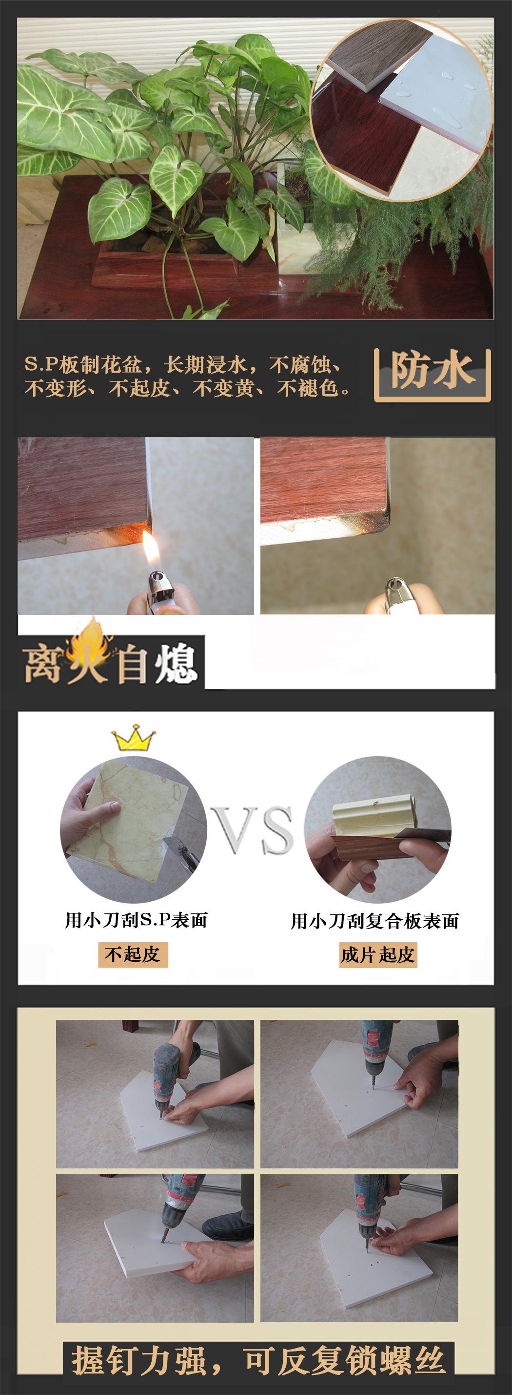 卫浴挂墙式简约复古清新卫浴组合水印防水板浴室柜 景德镇艺术盆示例图9