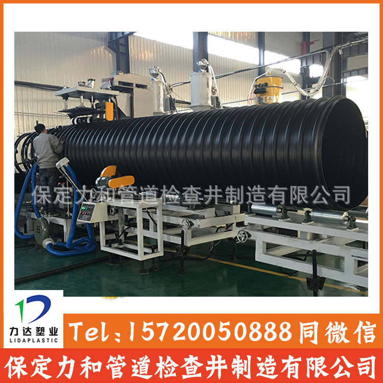 HDPE钢带增强波纹管 双壁波纹管 雨污水管网专用示例图13