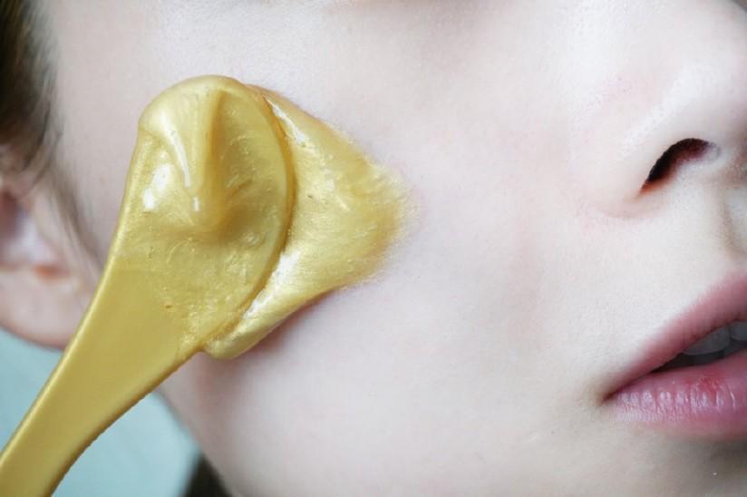韩国v正品正品教学黄金面膜撕拉胶原蛋白水光补贴纸教程视频果冻图片