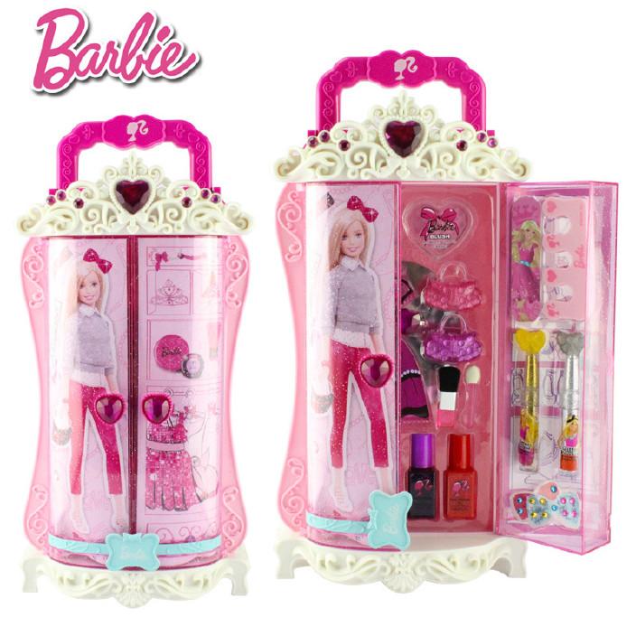 芭比公主娃娃儿童化妆品彩妆盒套装大礼盒女孩