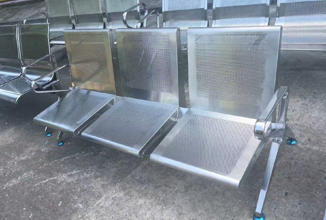 供应杭州优质不锈钢机场连排椅候诊候车区连排椅质保10年