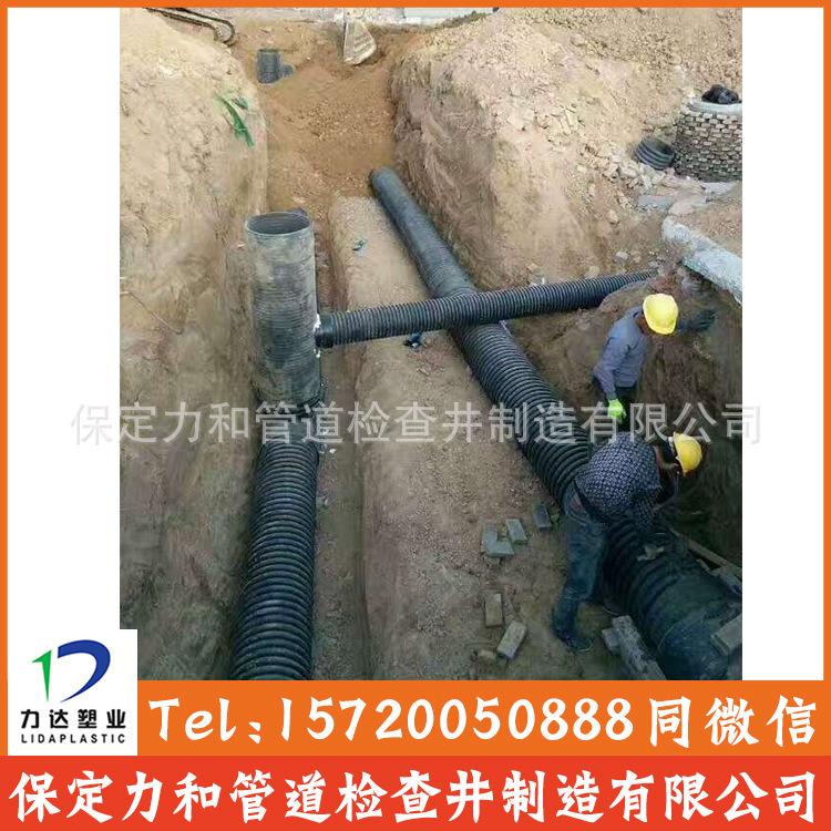 中空壁缠绕管 井壁管 HDPE双平壁缠绕管示例图13