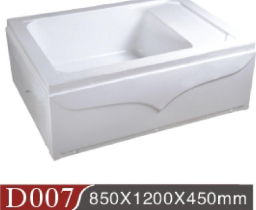 批发亚克力中缸淋浴房底座浴室防滑淋浴房高底盘带座位沐浴高缸