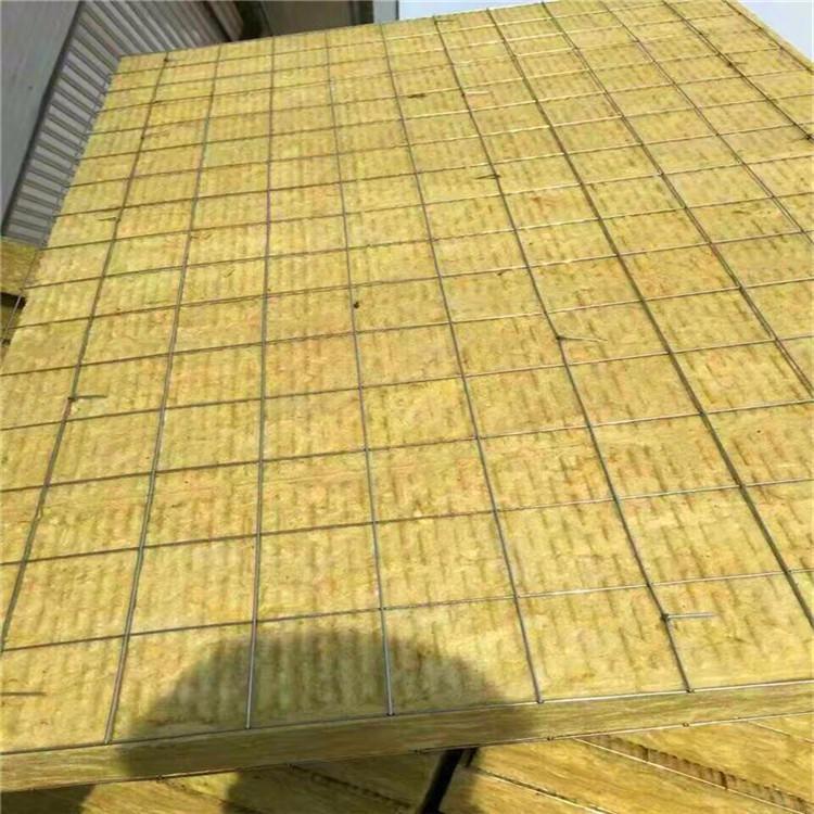 河北四通外墙浇筑钢网岩棉板 外墙憎水钢网岩棉板质优价美品质值得信赖 60mm130公斤高密度钢网岩棉板