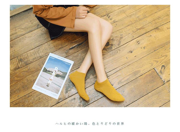 19春夏款新品潮 糖果色女士船袜 女士运动船袜全棉休闲浅口短袜示例图16