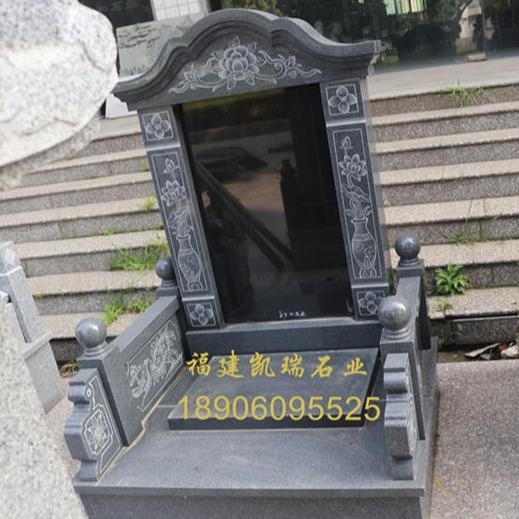 惠安墓碑廠家直銷傳統墓碑  芝麻黑墓碑 農村公益性公墓傳統墓碑