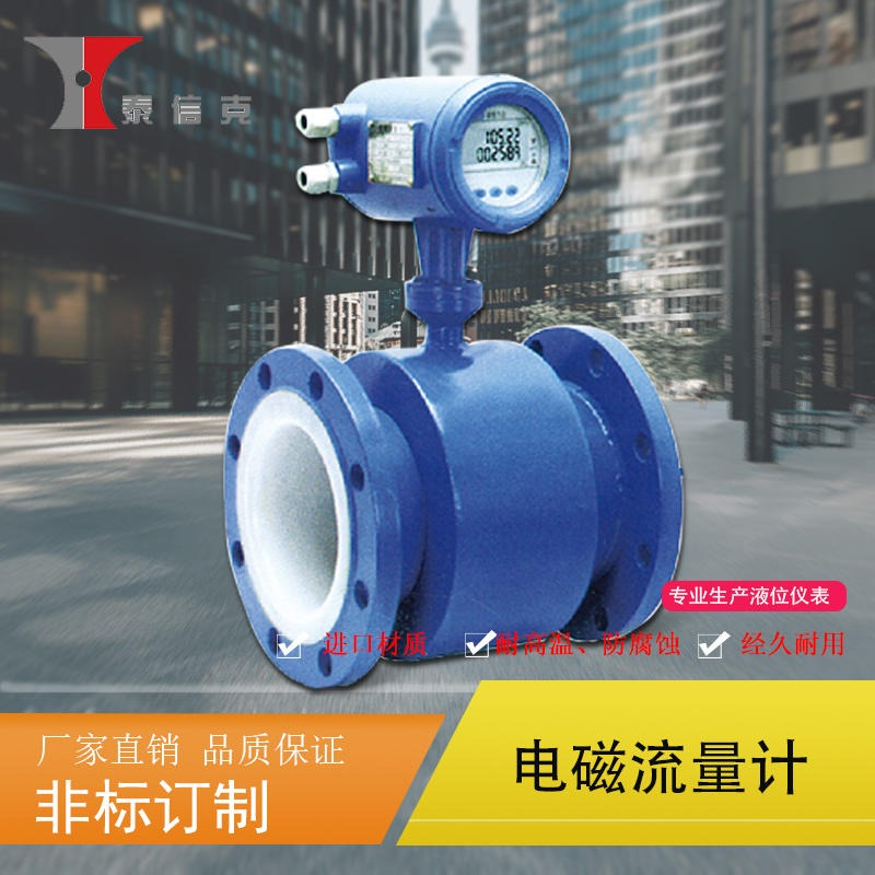 河南 泰信克 电磁流量计 厂家直销 液体流量计 源头厂家