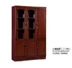三门时尚书柜 南康家具  大容量办公书柜  805B#