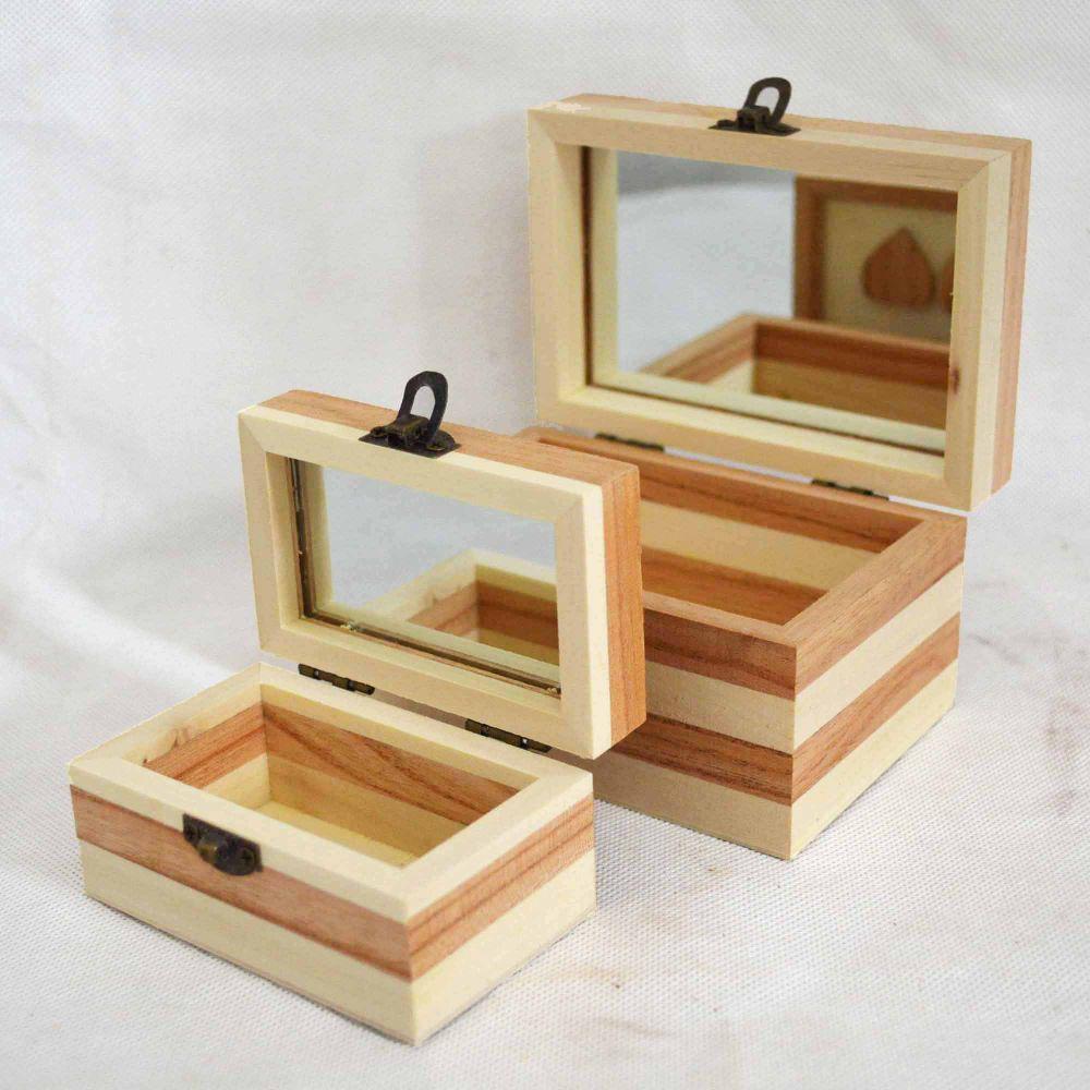 创意礼品盒 木制珠宝收纳盒 木质首饰盒子可定制LOGO