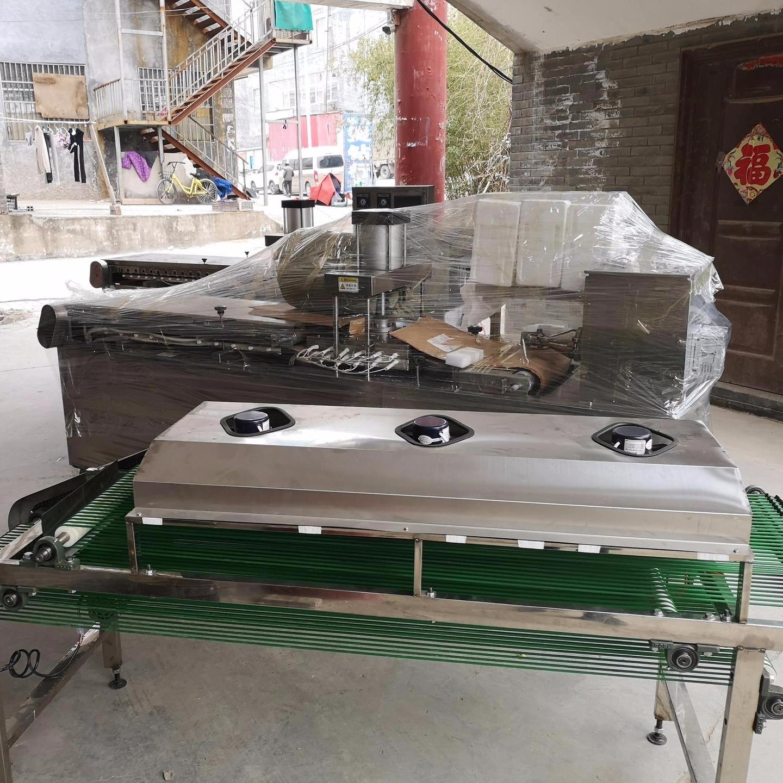 单饼机 圆形全自动单饼机器 万年红不锈钢单饼机厂家制作