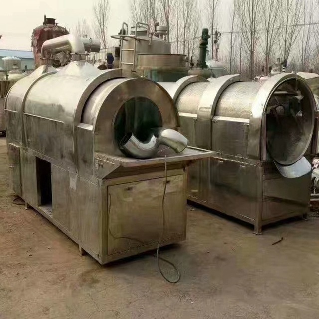 梁山有多功能全不锈钢丹皮参茸炒药机发展良机,二手550型炒药机 , 二手罐头炒药机