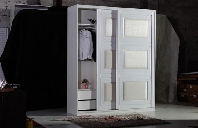欧式衣柜门 订做衣柜移门 热销衣柜皮艺皮纹皮革推拉门 批发