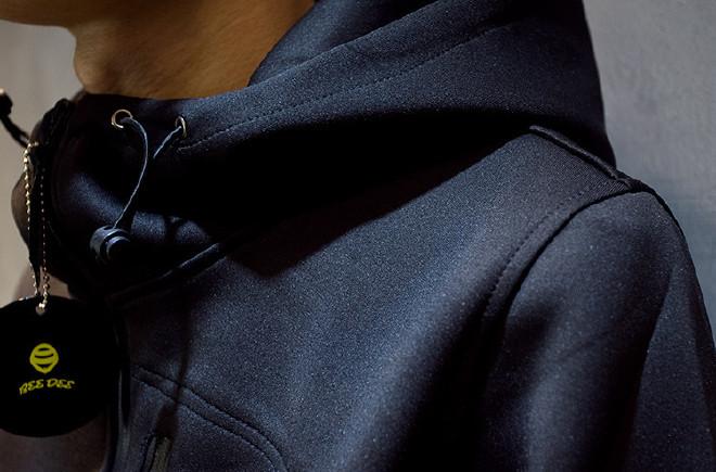 男式�l衣潮莫非牌太空棉�l衣定制�B帽�n版修身�_衫日系男�b棒球服外套示例�D26