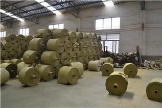 PP编织袋筒料生产厂家直销黄色半成品布卷 开边编织布可加工定做示例图7