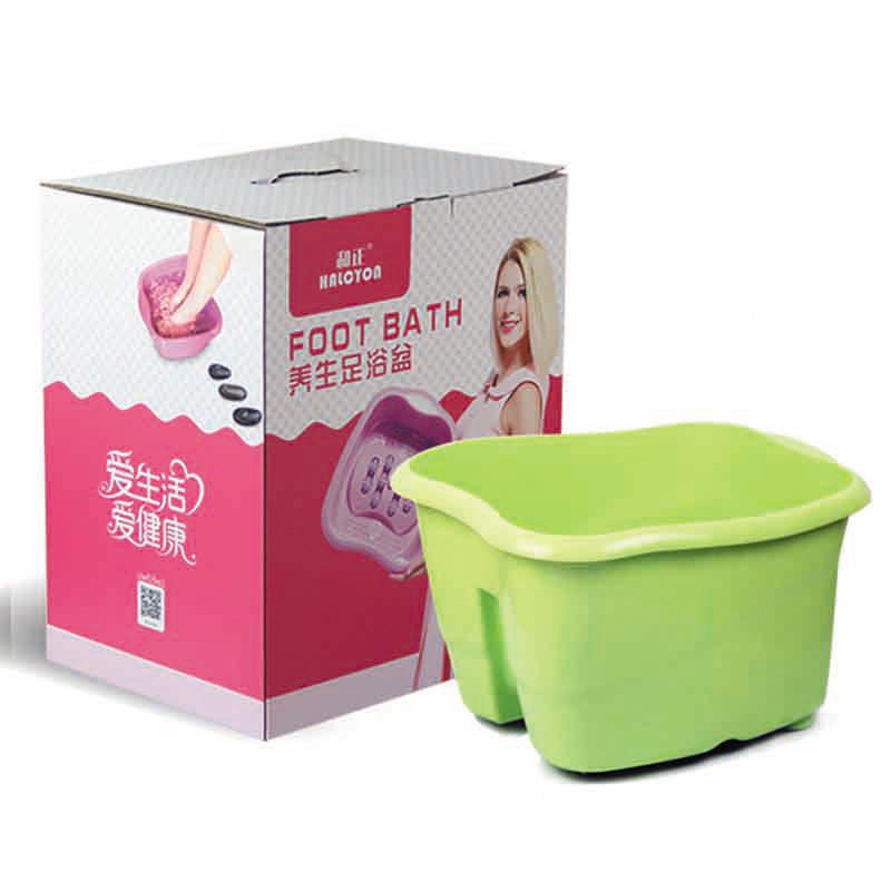 厂家直销和正HALCYON按摩足浴盆洗脚盆滚轮按摩器可定制活动礼品