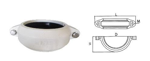 沟槽式hdpe静音排水管,hdpe沟槽管宜万川柔性连接PE管ABS卡箍示例图7