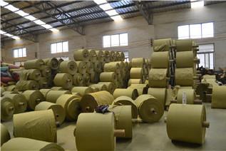 PP编织袋筒料生产厂家直销黄色半成品布卷 开边编织布可加工定做示例图8