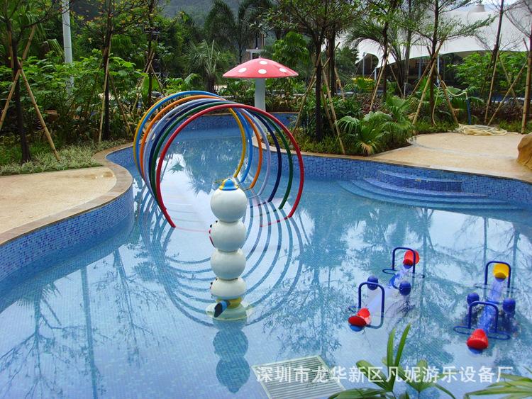 水上游乐设施 儿童水上乐园设备互动水屋 儿童戏水池喷水小品图片