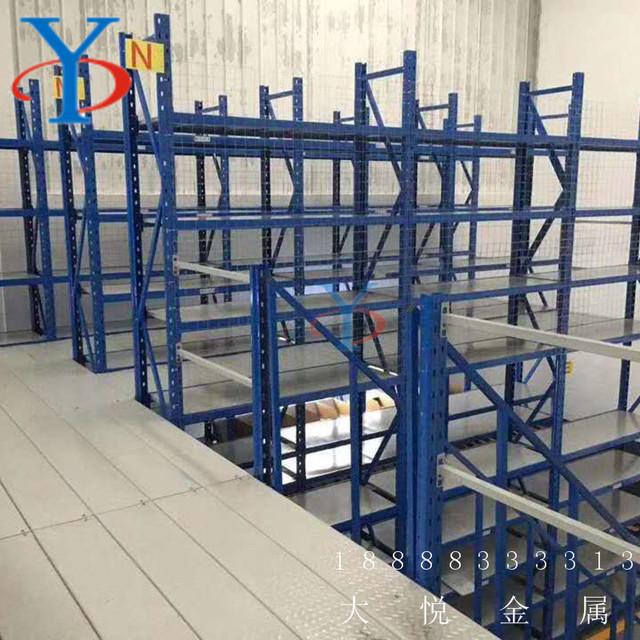济南大悦仓储 双层阁楼式货架 钢结构平台 重型阁楼货架平台