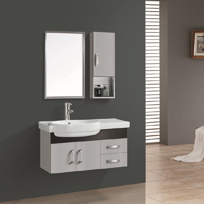 福莱尔 新款不锈钢浴室柜 简约大气浴室组合柜不锈钢侧柜洗脸盆柜