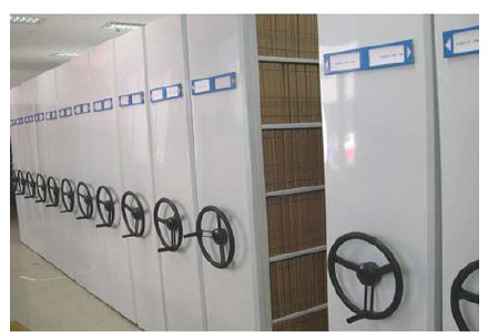 图书馆书架|标本密集柜|底图密集柜|油画密集柜|移动货架示例图4