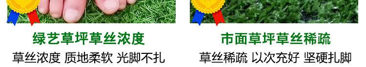 供應幼兒園專用加密仿真草坪 足球場草坪 樓頂綠化草坪示例圖19
