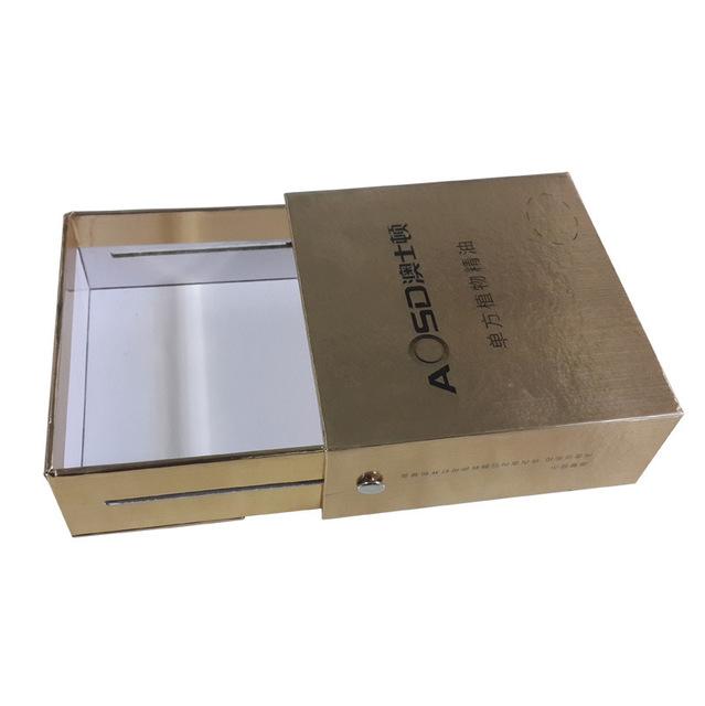 紙盒工廠定制生產精美金卡紙金屬組裝抽屜盒 高檔禮品盒