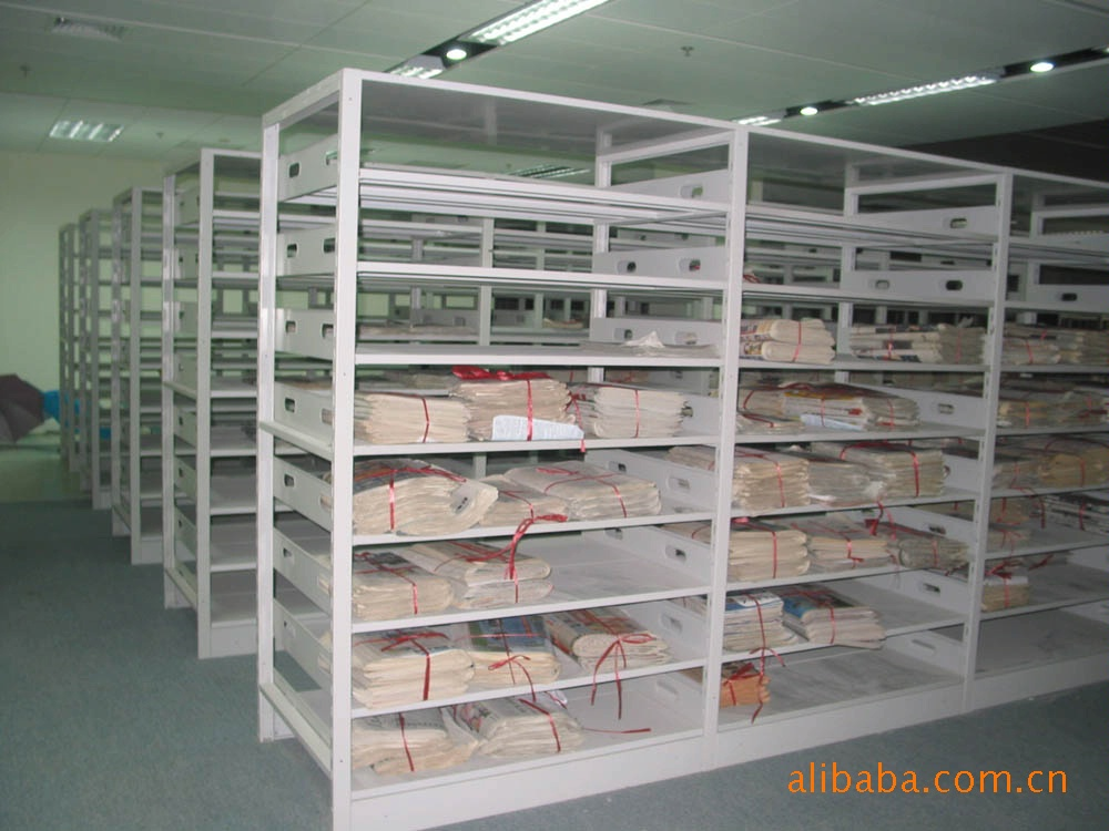 【厂家直销】佛山出口复柱式图书架、报刊架、杂志柜(保修十年)示例图4