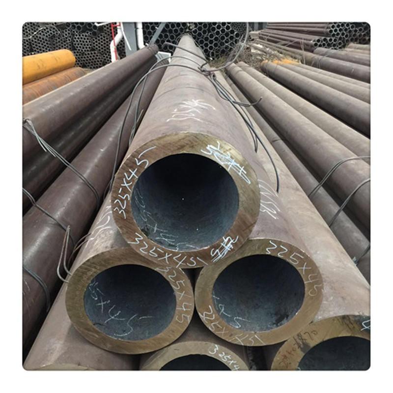 廠家生產熱無縫鋼管黑色空心圓管45厚壁無縫鋼管45號厚壁無縫鋼管切割零售