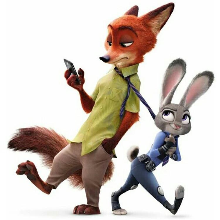 a儿童儿童城公仔兔朱迪狐尼克毛绒玩具玩偶布娃娃抱枕兔子苍蝇动物为什么女生消灭不了图片
