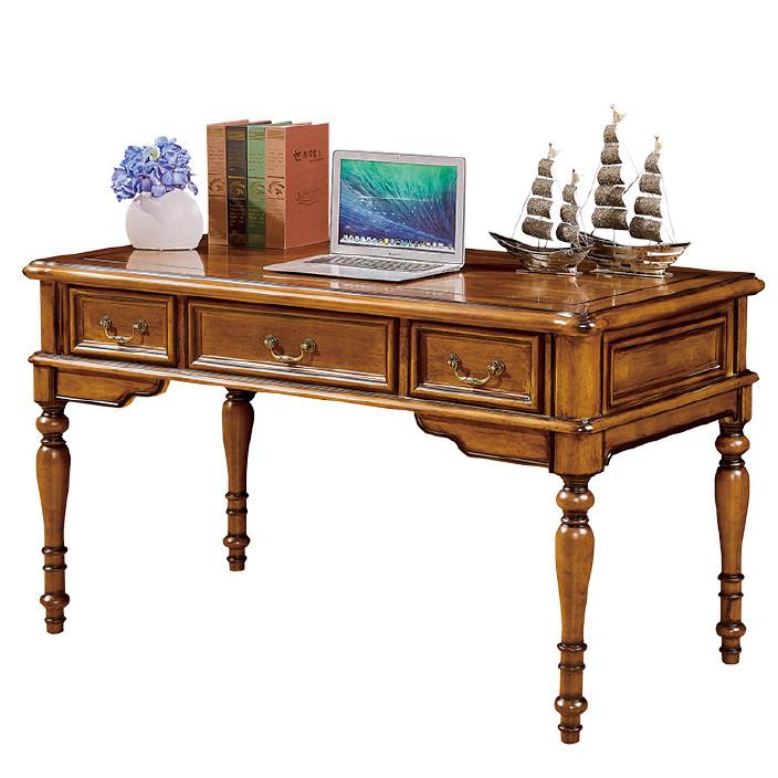 美式书桌实木书房家具卧室书房书桌写字台实木办公桌电脑桌子简约