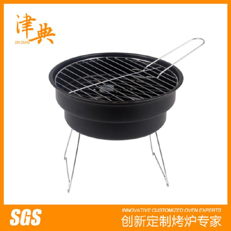 批发户外烧烤炉情侣烧烤炉便捷木炭烧烤架手提家用圆形可折叠烤炉图片