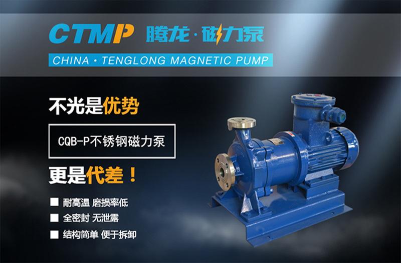 CQB50-32-160P不锈钢磁力泵 全封闭 无泄漏 防爆磁力泵 厂家直销示例图1