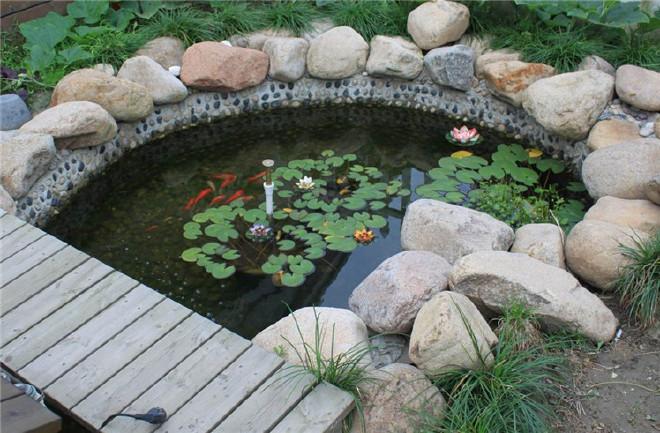 庭院水景 水景设计 别墅水池水景设计施工 假山图片