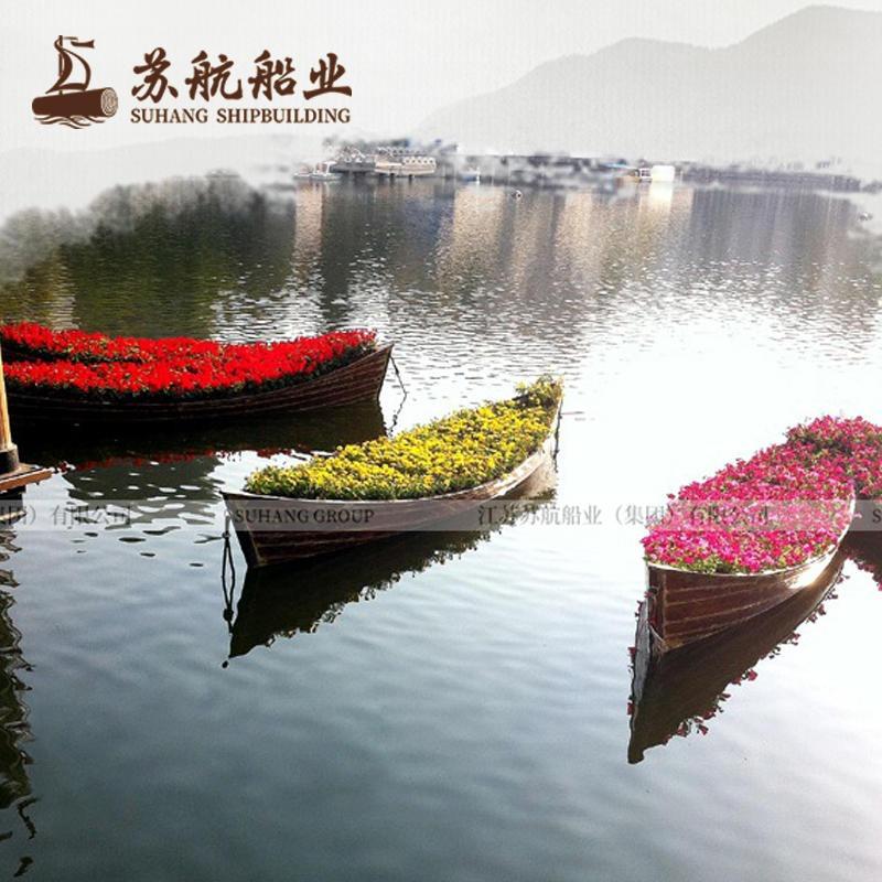 苏航定制木船 户外景观船装饰木船 景观装饰船生产厂家