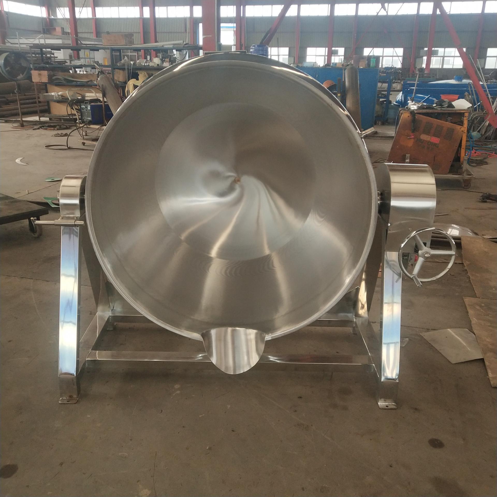 电加热可倾斜夹层锅 动物油提炼夹层锅 自动出料可倾夹层锅