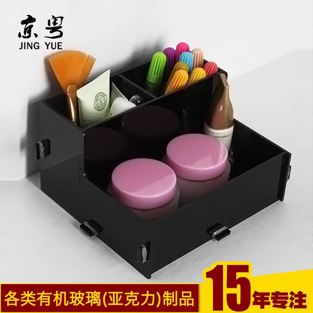 工廠訂做 亞克力拆卸組裝化妝品整理盒制作 化妝用品收納盒定制