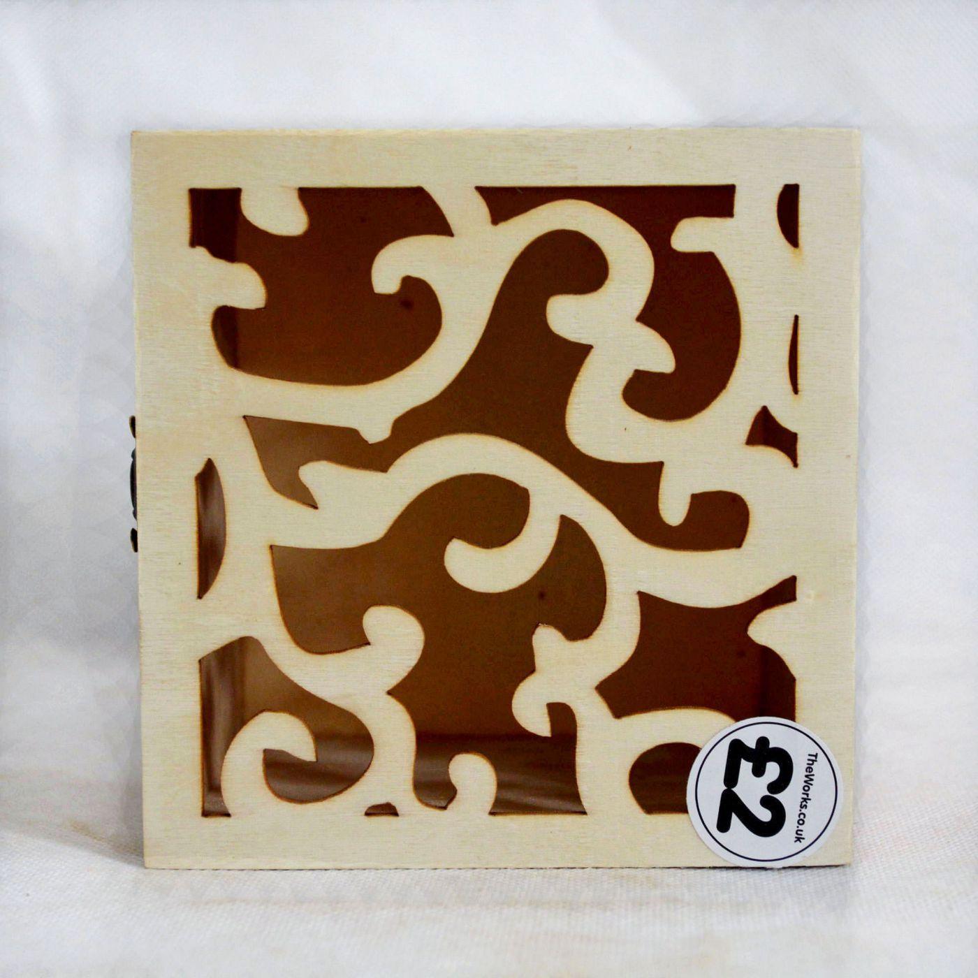 创意木制镂空收纳木盒首饰饰品包装礼品盒定做小木盒产业带厂家