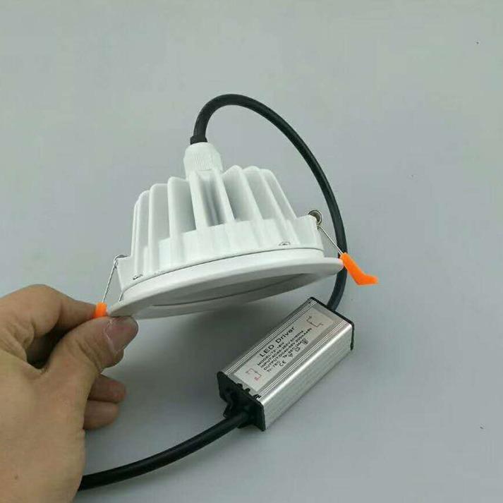 宁波防水LED筒灯厂家批发 IP65防水12W浴室LED筒灯