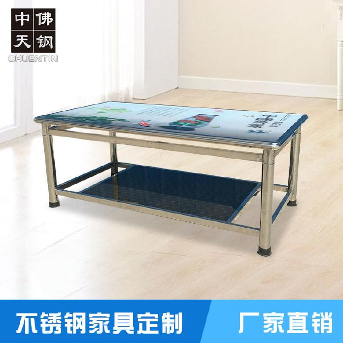 出租屋用餐桌 酒店餐厅客厅桌子 不锈钢餐桌 不锈钢桌子 厂家直销
