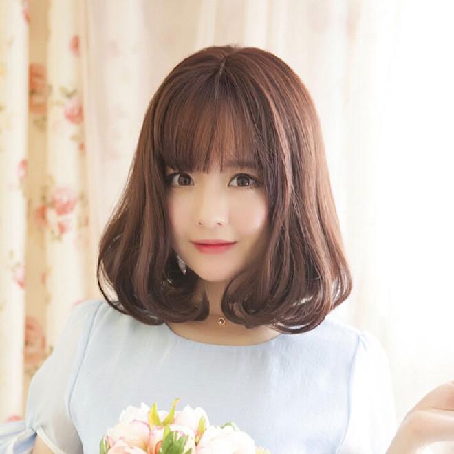 发型女简易头造型内扣中长时尚蓬松韩国短发整假发的梨花图片全集大短发图片