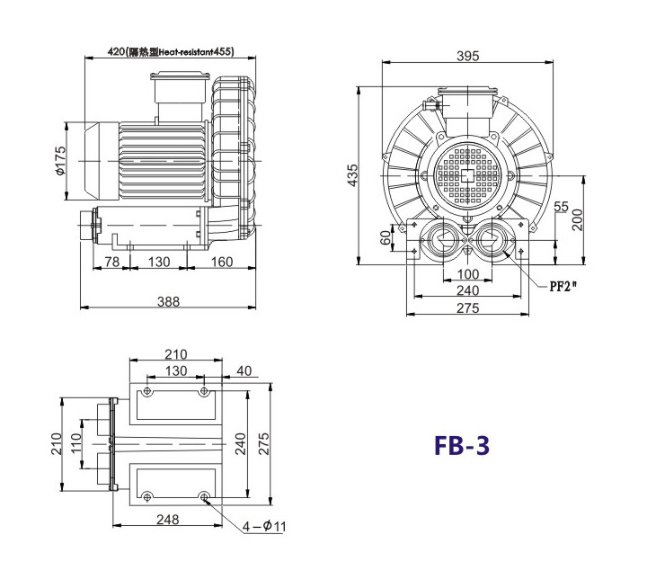 哈尔滨油气输送防爆高压风机 FB-25油气输送防爆高压风机 厂家直销防爆风机示例图15
