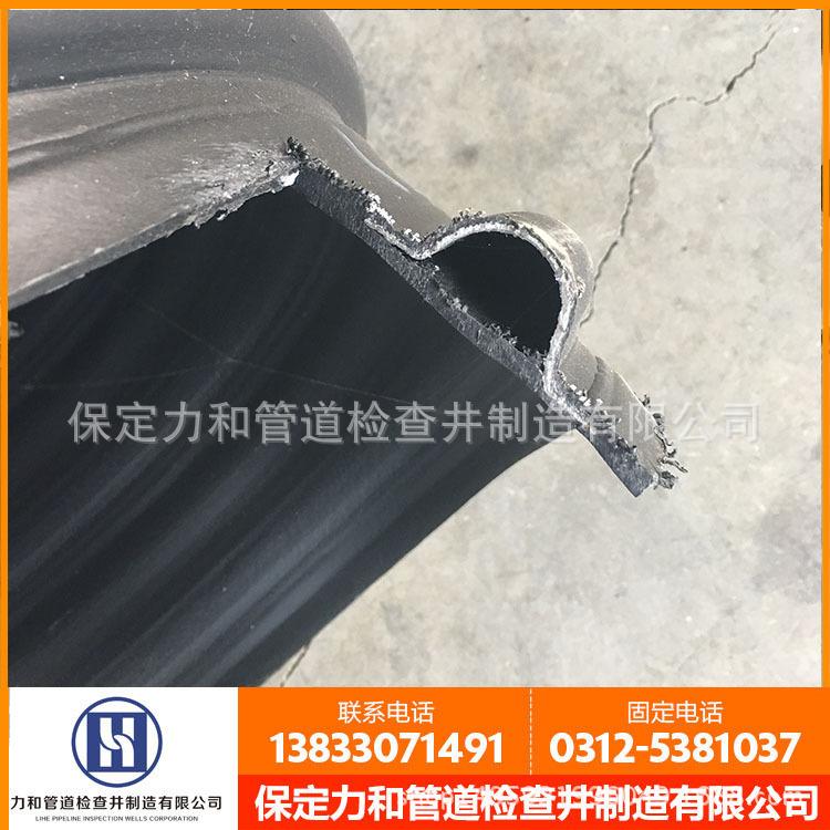 力和管道  厂家直销  HDPE钢带管 PE钢带增强波纹管 质量保证示例图3