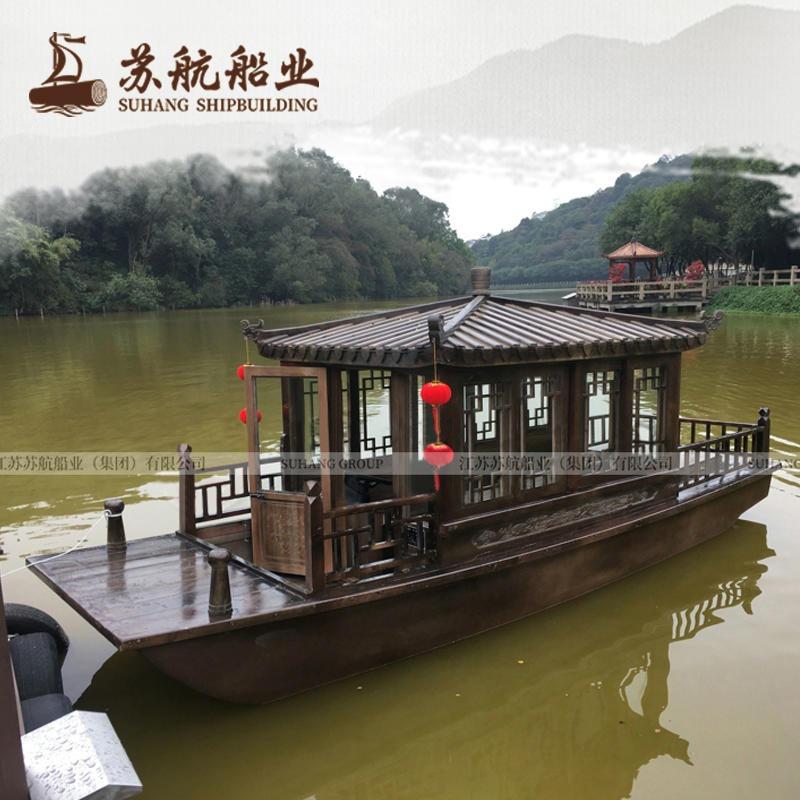 蘇航牌6米電動觀光船 小畫舫船 仿古畫舫船觀光旅游