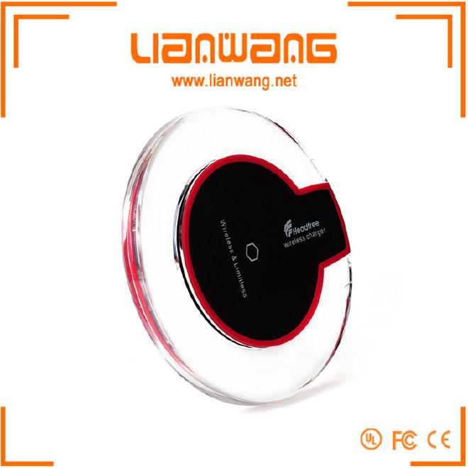 无线充电水晶款圆盘底座 发射器 QI无线充电器 三线圈无线充