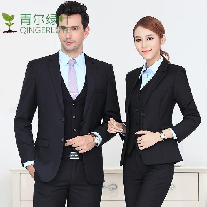 工裝男款女士男士商務男裝職業正裝修身工作服定制批發西服