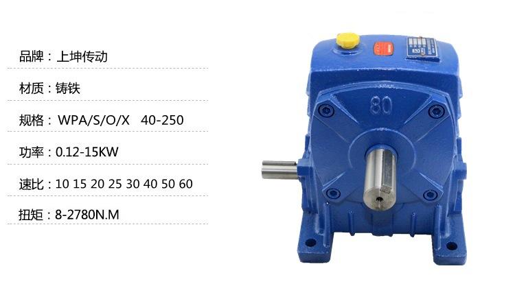 廠家特價蝸輪蝸桿WPA/S/X40-250減速機速比10/20/30/40/5060鐵殼示例圖2