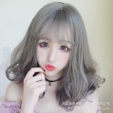 韩国假发头套女发型发长发刘海短发中分蓬松逼赫本空气长卷图片