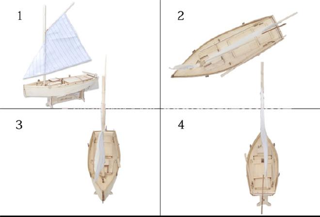 【菲莱特号木质拼装套件部分图纸DIY西洋古船cad消隐帆船如何将模型图片