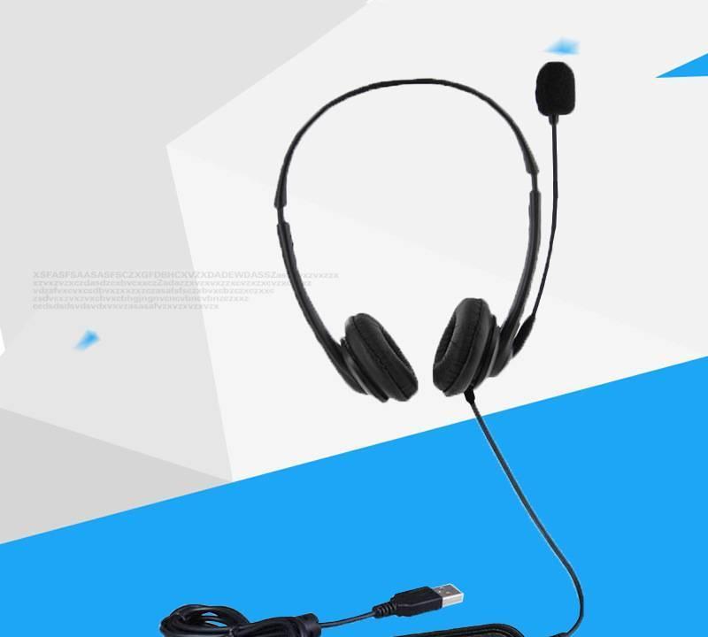oem/odm订单 usb接口耳麦耳机 头戴式立体声护耳式大耳机 usb耳机